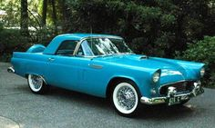 1956 Ford Thunderbird in Peacock. It is very unusual to see a '56 hardtop without a porthole!