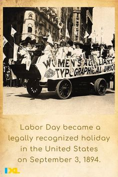 Labor Day is dedicated to the social and economic achievements of American workers. #TBT #OnThisDay Labor Day History, Ixl Math, Learning Sites, Throwback Thursday, Social Studies, Language Arts, Fun Facts, How To Become, Spanish
