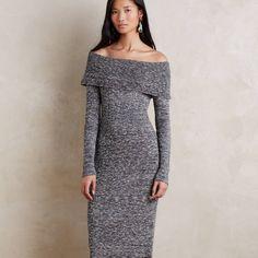 6c517b506e Moth Dresses & Skirts - Anthropologie Gray Sweater Midi Dress By Moth, ...