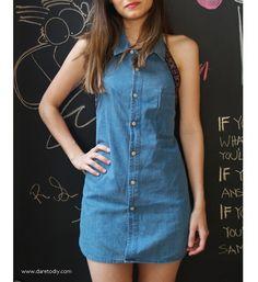 DIY dress broyfriend shirt