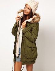 ASOS   ASOS Fur Hooded Detachable Lined Parka at ASOS