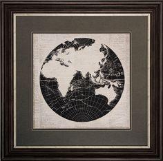 World News 2 Piece Framed Graphic Art Set