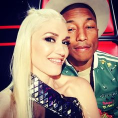 Pin for Later: Celebrity Candids You Don't Want to Miss This Week  Gwen Stefani snapped a photo while filming The Voice with Pharrell Williams.  Source: Instagram user gwenstefani