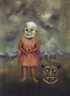 Frida Kahlo「Bambina con maschera della morte」(1938)