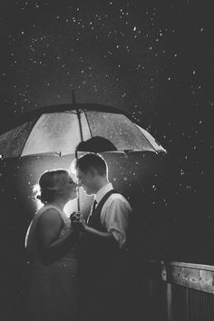 Let's do this on your weeding.  Rain photos on a wedding night are my favorite.