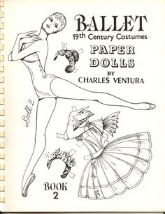 ballet paper dolls, that you can colour yourself... rainy day activity