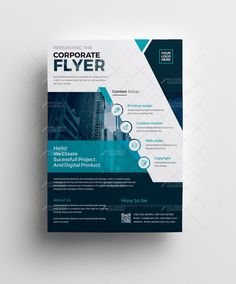 Corporate Flyer With Alternate Version Graphic Design Templates Flyers Ruffles