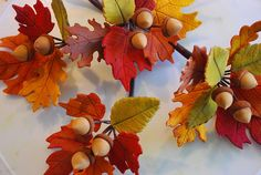 Something a little different for the cake - gum paste fall leaves and acorns by Sweet Fix, via Flickr