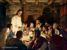 Harry Anderson - The Last Supper - Paper and Canvas Art Prints by Harry Anderson Pictures Of Jesus Christ, Religious Pictures, Bible Pictures, Religious Art, Lds Art, Bible Art, Jesus Last Supper, Last Supper Art, The Last Supper Painting