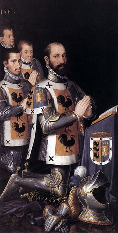 Pieter Jansz. Pourbus (1523 – 30 January 1584) was a Dutch-born Flemish Renaissance painter- Jan Lopez Gallo and his three sons (dated 1568)