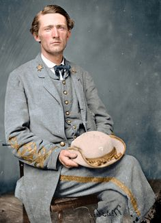 Confederate Colonel John Singleton Mosby aka 'The Gray Ghost' of the Virginia Volunteer Cavalry Battalion American Civil War, American History, Southern Heritage, Confederate States Of America, Into The West, Civil War Photos, Le Far West, Us History, Military History