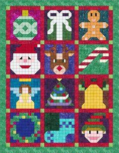 Quilting Ideas Christmas Sampler All 12 Blocks Christmas Patchwork, Christmas Blocks, Christmas Quilt Patterns, Christmas Sewing, Quilt Block Patterns, Pattern Blocks, Quilt Blocks, Christmas Crafts, Christmas Ideas