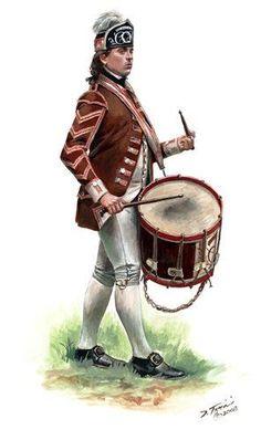 Drummer, 2nd Canadian Regiment (Congress' Own)