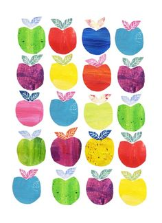 Rainbow apples ~ pattern