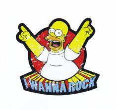 PVC waterproof  toy  sticker,I wanna rock,simpson rock sticker GLINGIRD