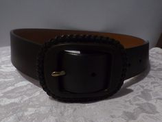 16.09$  Buy here - http://viaff.justgood.pw/vig/item.php?t=gi8snz14170 - Ralph Lauren Whip Stitch buckle Women's Leather belt, brown, Size S, Orig: $53.0