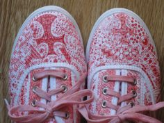 Zentangle shoes with bible verses ... awesome idea!