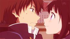 Oreki Houtarou and Chitanda Eru. Hyouka #gif                                                  I would probably do this....