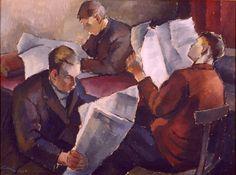 Alvar Cawen (1866-1935) Lehtiä luetaan 1922 - Finland - reading
