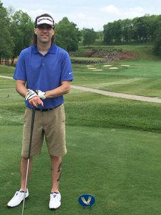 Kevin golfing for charity.