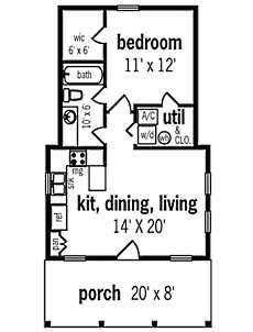 Small Cottage House Plans . . . small in size -- BIG ON CHARM!  Pic one of small cottage  564sqft