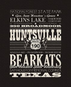 Wall art, home decor, a tribute to Huntsville, TX
