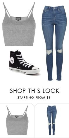 """""""Untitled #25"""" by rfscohen on Polyvore featuring Topshop and Converse"""