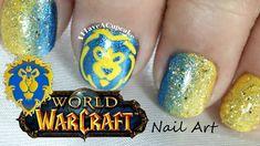 World of Warcraft Nail Art - Alliance