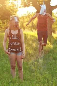 I Like Your Beard printed on US Made American Apparel by BareTree, $24.00