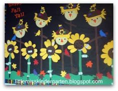 Little Miss Kindergarten - Lessons from the Little Red Schoolhouse!: Happy Fall Bulletin Board
