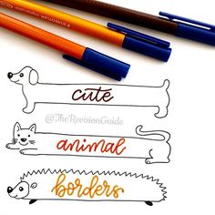 Copy these or create your own animal borders and use #TheRevisionGuide_Borders…