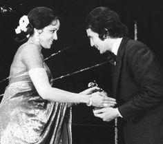 Hema Malini and Rajesh Khanna