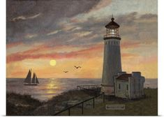 Betty Whiteaker Poster Print Wall Art Print entitled North Head Lighthouse, None