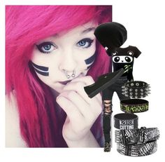 """""""SCENE/EMO"""" by vampiresblood ❤ liked on Polyvore featuring Goodie Two Sleeves, Christopher Kane, Vans and Coal"""