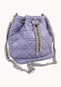 Casey Lambskin Leather Bucket Bag Purple