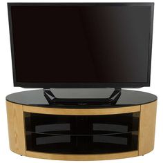 "BuyAVF Affinity Plus Buckingham 1100 TV Stand For TVs Up To 55"", Oak Online at johnlewis.com"