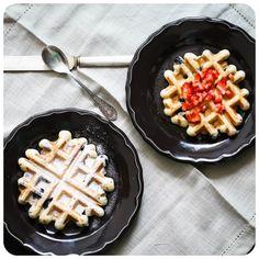 Waffle de Blueberry sem glúten/leite