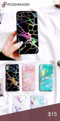 iPhone X Black Holographic Marble Case Cute iPhone X Black Holo Marble Case Brand New Accessories Phone Cases #iphone10,