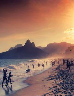 Atardecer en Rio de Janeiro, Brasil...