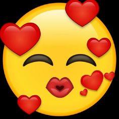 Emoticon Love, Emoticon Faces, Emoji Love, Funny Emoji Faces, Funny Emoticons, Kiss Emoji, Smiley Emoji, Emoji Images, Emoji Pictures