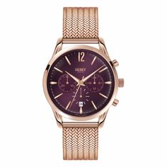 Ladies 39mm Hampstead Chronograph Stainless Steel Bracelet Watch | Henry London | Wolf & Badger