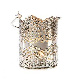 30 Silver Lace Hanging Candle Holders $250