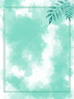Summer Background Images, Green Leaf Background, Kids Background, Summer Backgrounds, Flower Backgrounds, Twitter Backgrounds, Green Watercolor, Watercolor Background, Verde Aqua