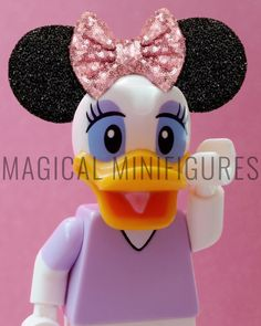 Lego Project 365 April 26th -Daisy's ready for some Disney fun! 🎀(116/365) Featuring Disney Lego Minifigure Daisy Duck wearing her Minnie Mouse ears!