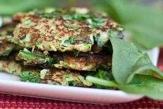 Zucchini and spinach fritters