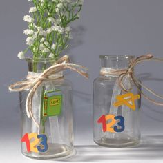 Set of 2 Vases School Beginning Beginning Of School, First Day Of School, Vases, Valentines Day Decorations, School Gifts, Glass Vase, About Me Blog, Etsy, Summer Bucket