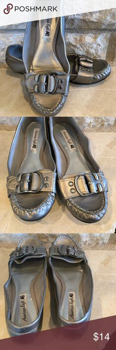 American Eagle Silver Flats In really good shape with no scratches or flaws. American Eagle Outfitters Shoes Flats & Loafers