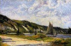 The Cliffs of Le Bouille 1884   Paul Gauguin   oil painting