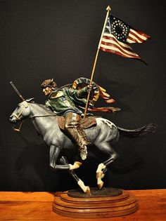Dave McGary (sculptor), Red Horn Bull Bronze with Patina and Paint