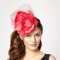 red pansy top headband - Stephen Jones Millinery